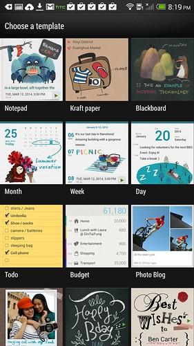 Scribble บน HTC One Max มี Template ให้เลือกเยอะแยะเลย
