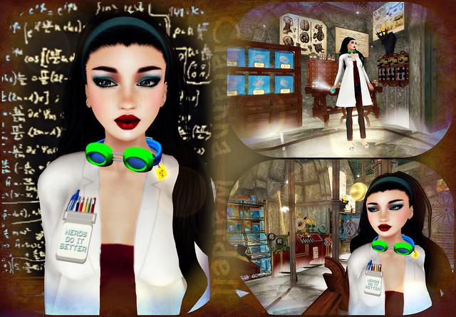 AleyMart! Mad Science Lab + Boof Nerdy Labcoat