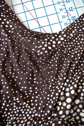 Spotted Dress Details