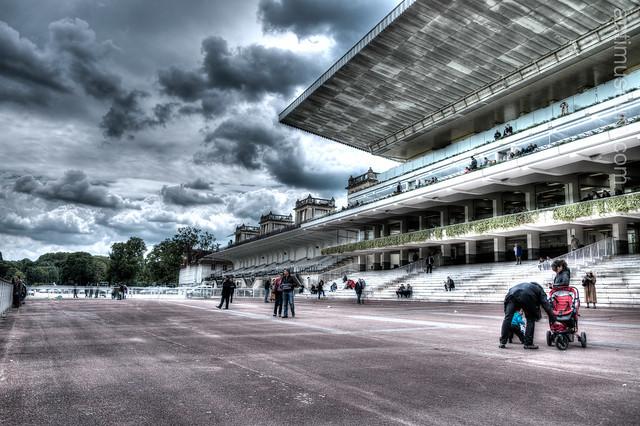 the Longchamp racecourse (HDR)
