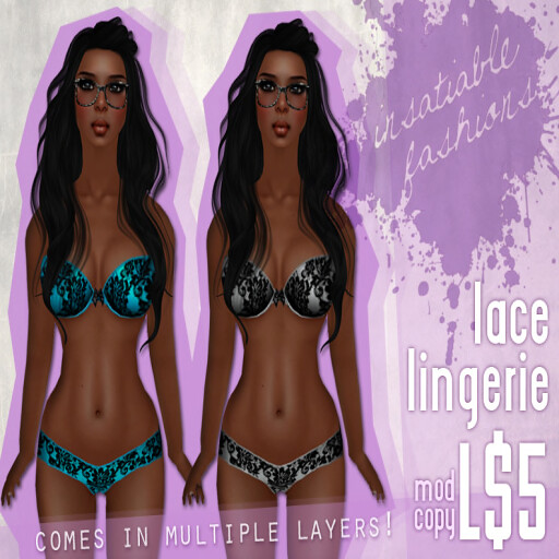 [IF] Sexy Nerd Hunt Gift_ Lace Lingerie in Teal and Silver! Ad
