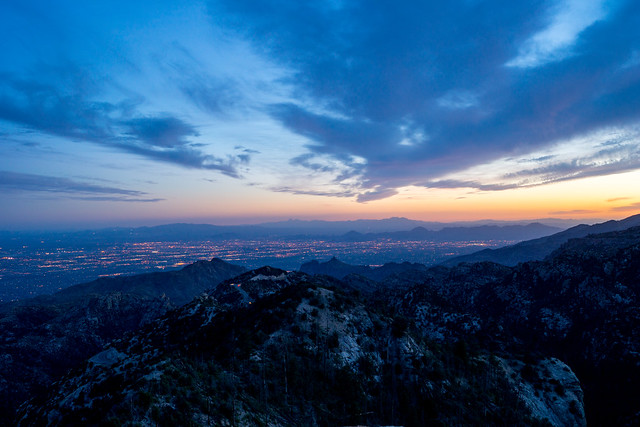 1306 Tucson in the Sunset from Lizard Rock
