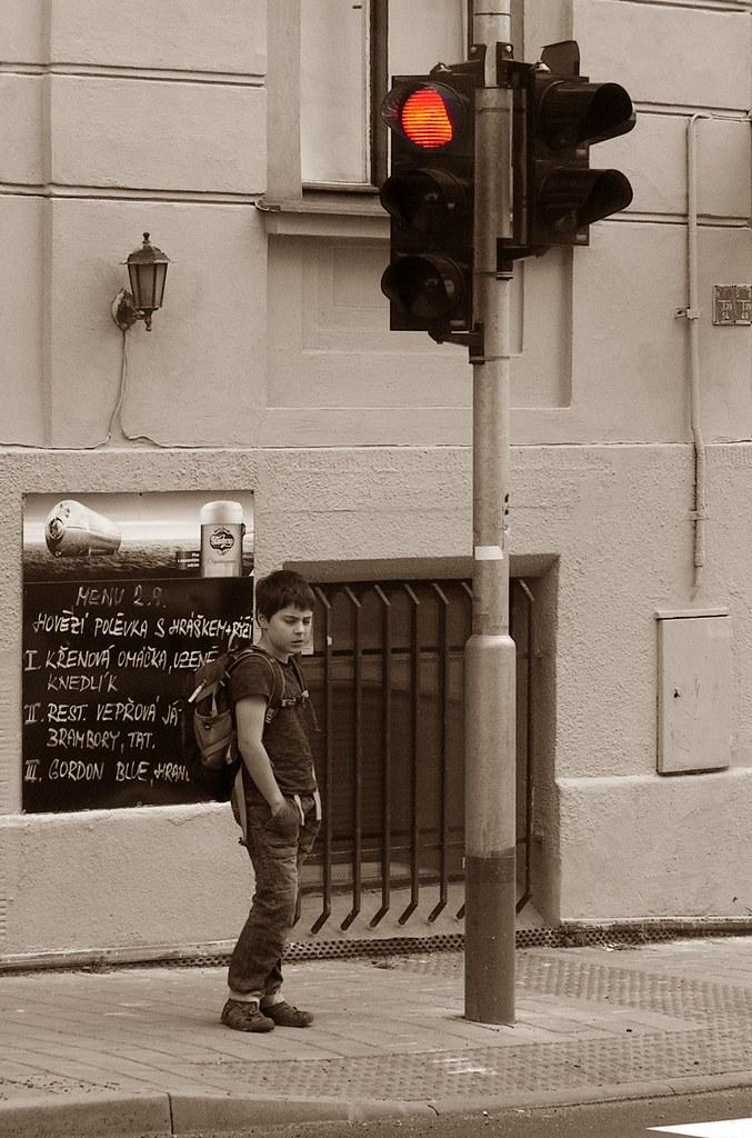 Boy at Crosswalk