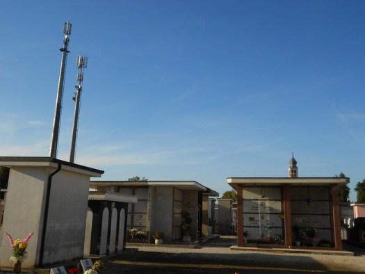 cimitero di Boara Polesine, i cellulari prendono