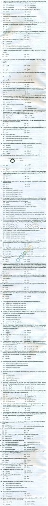 PU CET 2013 Question Paper with Answers - Physics