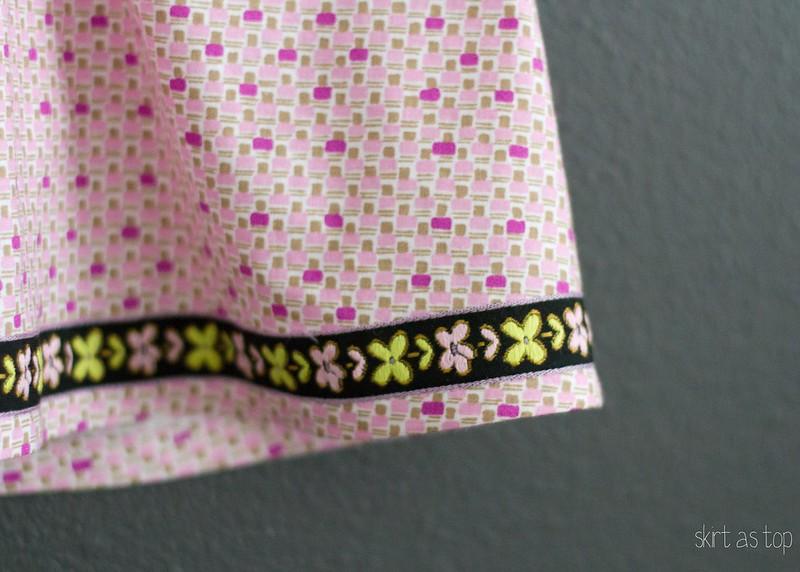 pierrot with ribbon trim