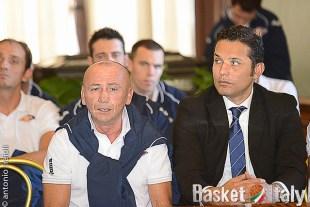Luca Dalmonte Nicola ALberani Presentazione Virtus Roma Basket 2013/14
