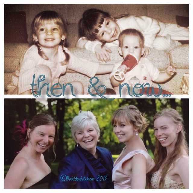 Oct 21 - then & now {my girls} I'm very proud if the people the have grown up to be!  #fmsphotoaday #thenandnow #daughters #family #children