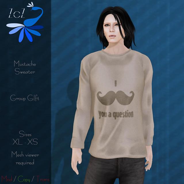ZcZ Mustache Group Gift Sweater (Guys)