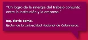 Programa de Estudios Terciarios. Ing. Flavio Fama, Rector de la Universidad Nacional de Catamarca.