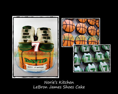 Norie's Kitchen - LeBron James NikeShoes Cake by Norie's Kitchen
