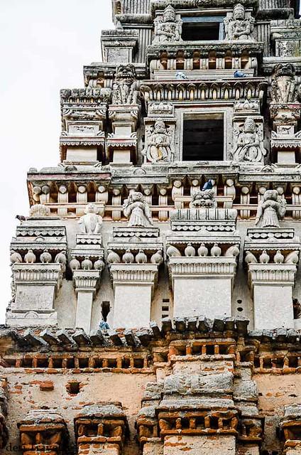 gopuram of ancient ammapalle temple shamshabad