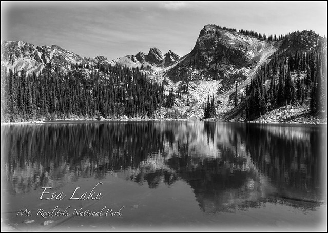 Eva Lake looking to Mt. Williamson