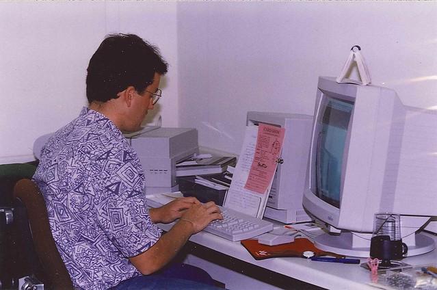 Ben at desk 1989