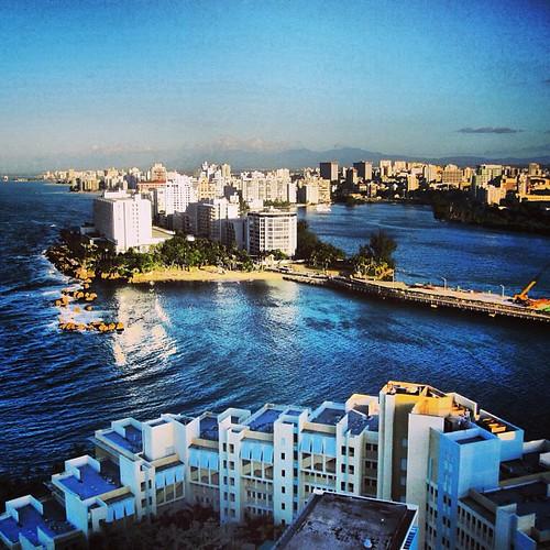 View from Caribe Hilton penthouse San Juan PR by @MySoDotCom