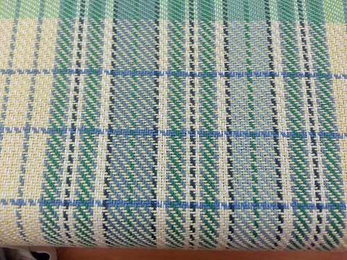 handwoven cotton kitchen towel floor loom