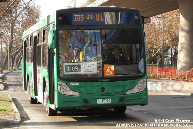 Transantiago - Comercial Nueva Milenio / Buses Vule - Caio Mondego H / Mercedes Benz (BJFY95)