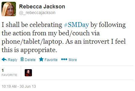 Social Media Day 2013 Tweet