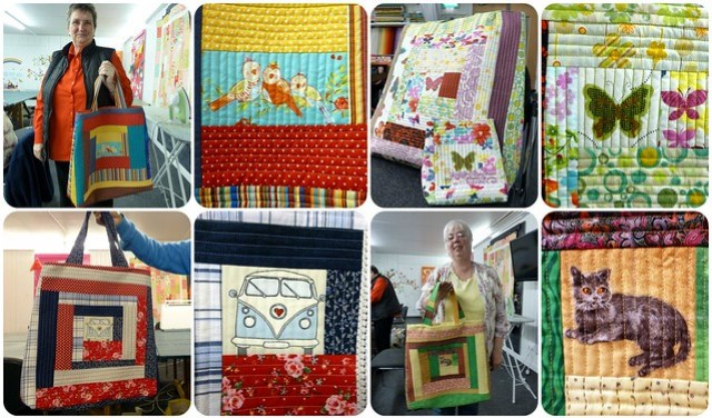 Quilt As You Go handbag class Mar14