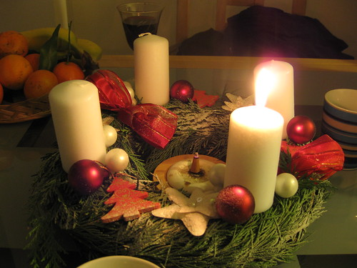 Let there be light: Homemade Advent Wreath
