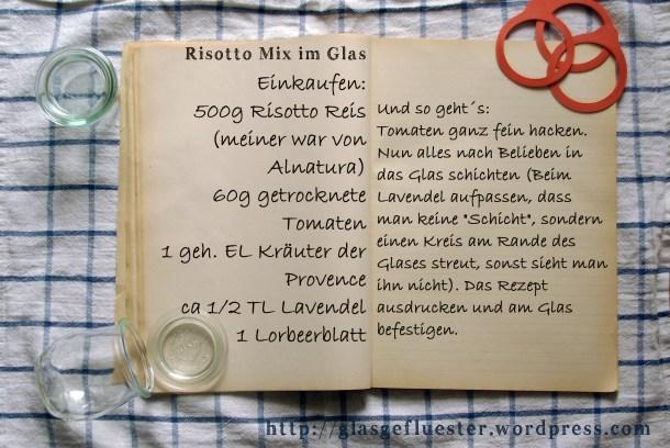 Einkaufszettel Risottomix im Glas by Glasgefluester