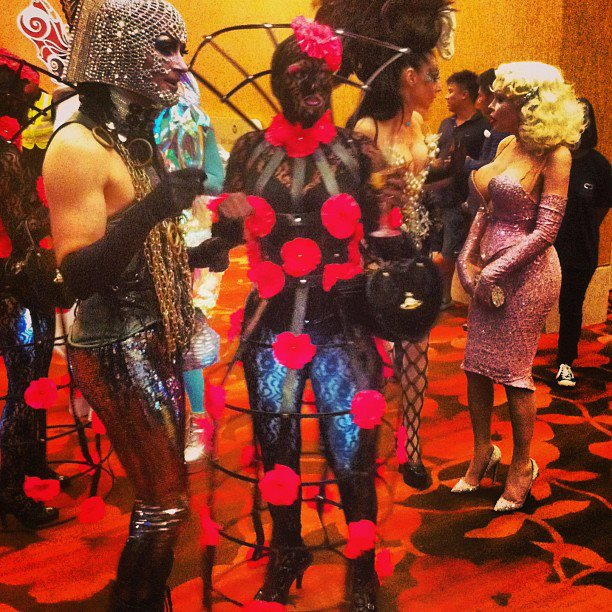 Gathering of strange characters at the Social Star Awards 2013 at Marina Bay Sands. #iseefreedom