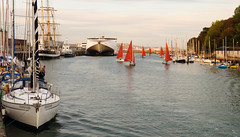 Sail boats in #Weymouth Harbour
