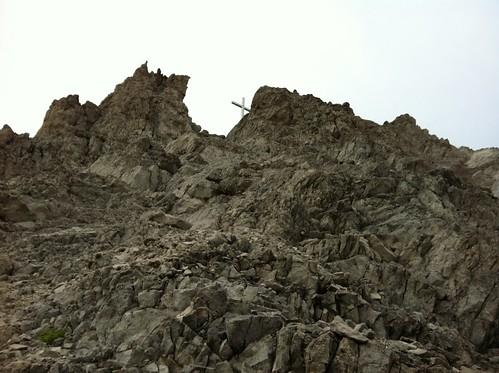 Gipfelkreuz in Sicht, Haunold 2.966