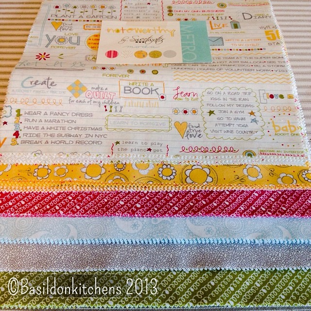 Nov 16 - play {I can't wait to play with this brand-new layer cake from Moda!} #fmsphotoaday #moda #fabric #play #noteworthy #sweetwater