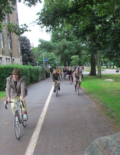 Leading out the Harris Tweed Ride