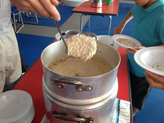 porridge for breakfast, summer camp