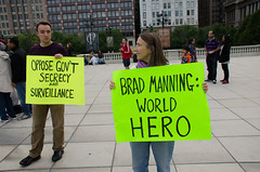 Chicago Free Bradley Manning Protest at the Bean Manning-1