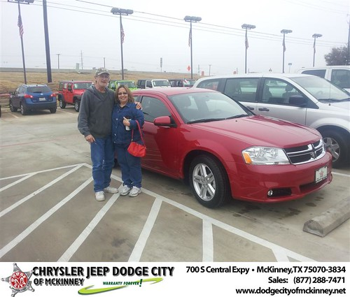 Happy Anniversary to Maria L Monroe on your 2013 #Dodge #Avenger from Brent Villarreal  and everyone at Dodge City of McKinney! #Anniversary by Dodge City McKinney Texas
