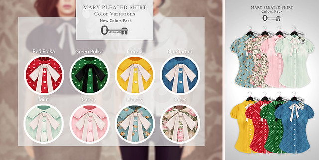 Mary Pleated Shirt - New Colors