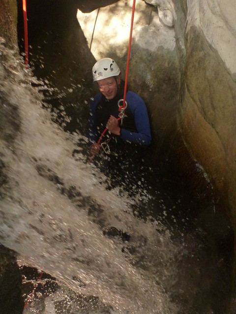 stage perfectionnement canyon dans les alpes maritimes