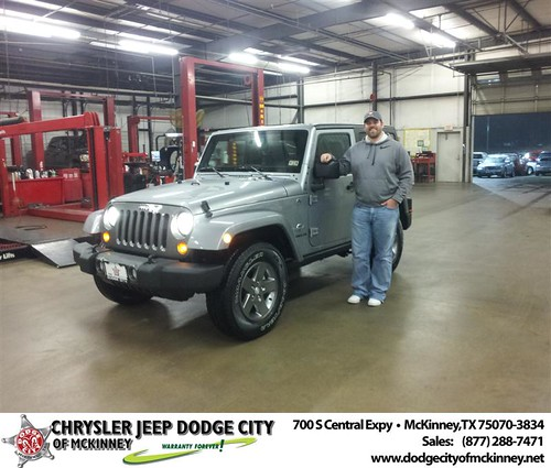 Happy Anniversary to Brian L Gilmore on your 2013 #Jeep #Wrangler from Brent Villarreal  and everyone at Dodge City of McKinney! #Anniversary by Dodge City McKinney Texas