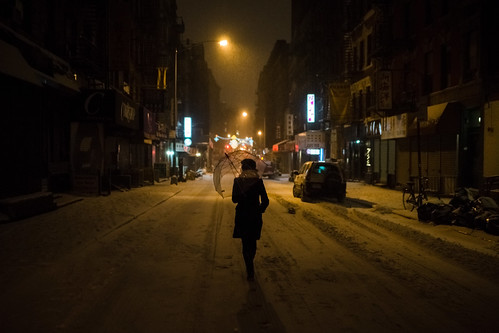 Chinatown, First snow of 2014 by Dan Nguyen @ New York City