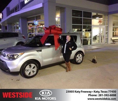 Thank you to Alexandra Cheramie on your new 2014 #Kia #Soul from Orlando Baez and everyone at Westside Kia! #RollingInStyle by Westside KIA
