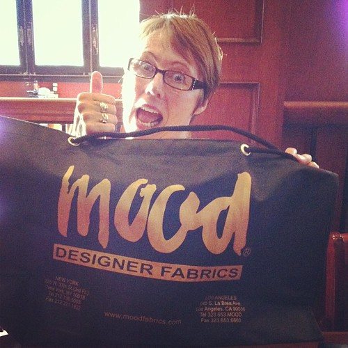 Mom visited and shopped at Mood today.