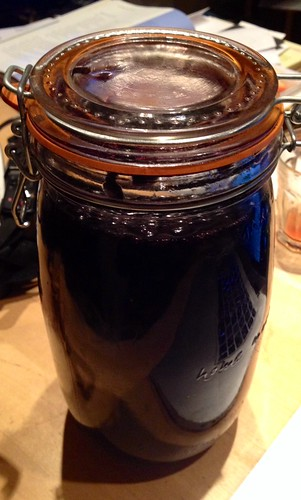 Sloe Gin brewing for 3 months