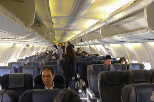 ボーイング737-500の機内