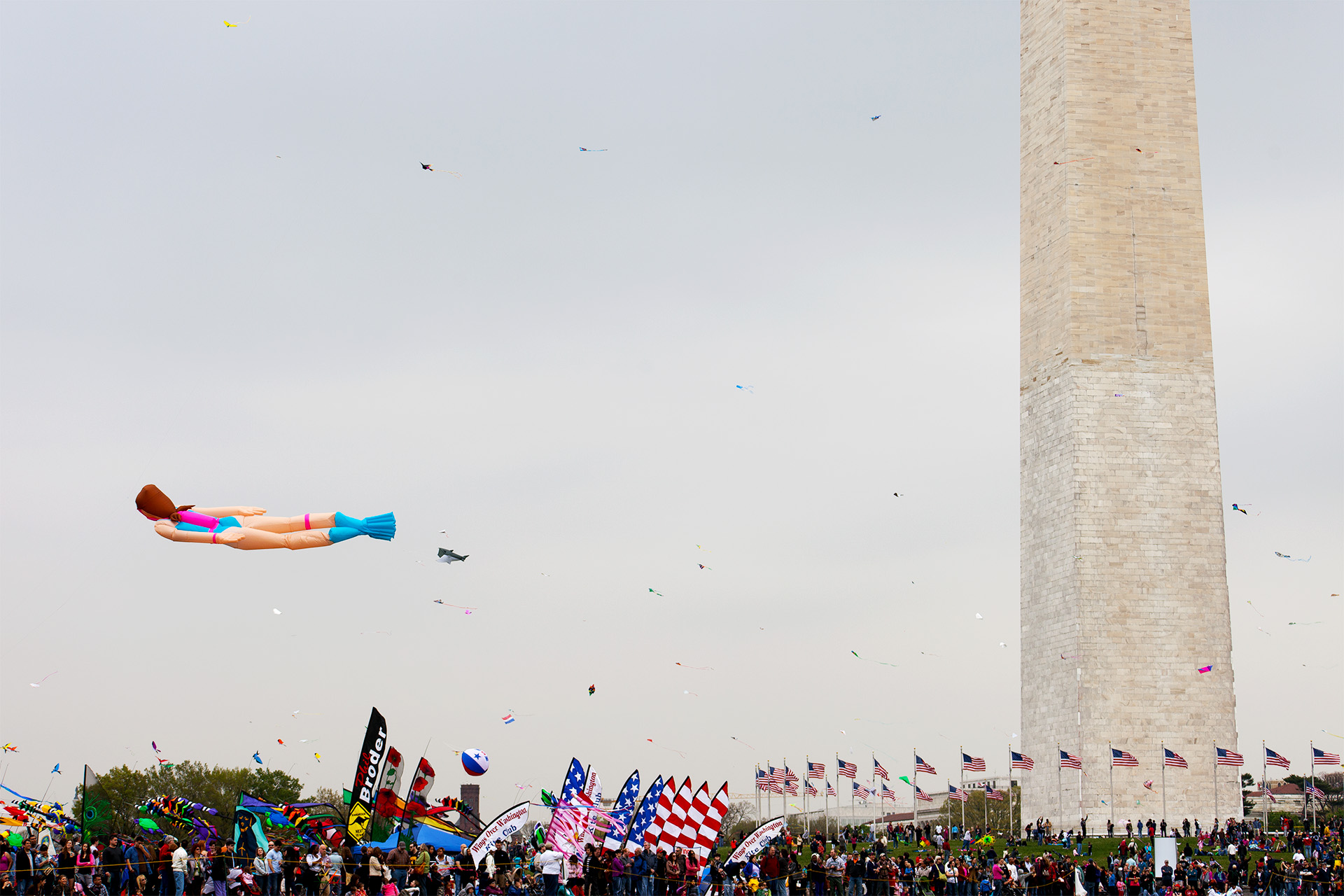 Kite Festival, Washington Monument.