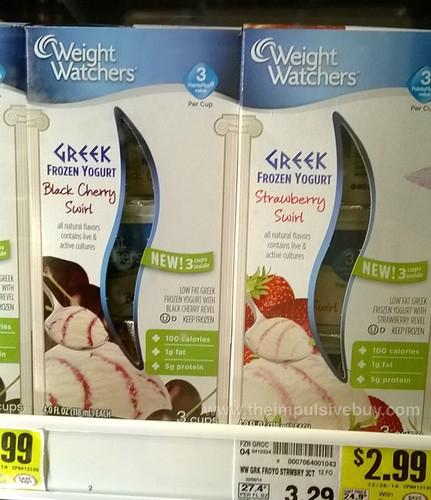 Weight Watchers Greek Frozen Yogurt Cups (Black Cherry Swirl and Strawberry Swirl)