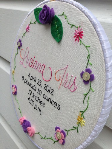Flower vine birth announcement (3)