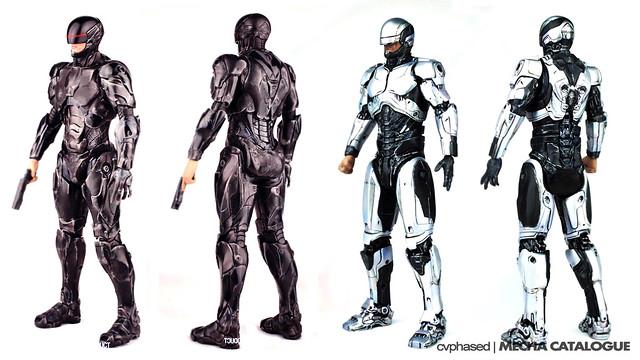 threezero RoboCop 1.0 and 3.0 - Colored Prototype Shots