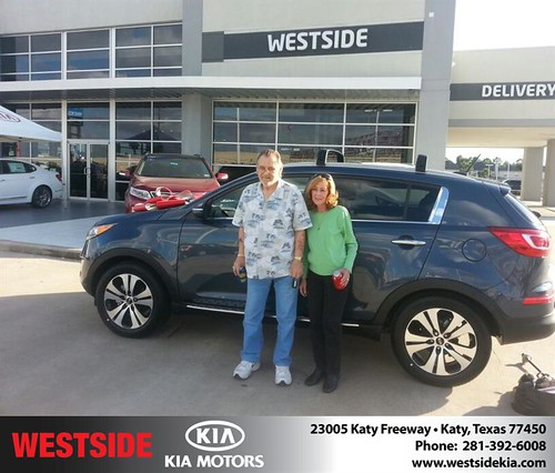 Thank you to Gary And Marianne Lippert on your new 2013 #Kia #Sportage from Rubel Chowdhury and everyone at Westside Kia! #LoveMyNewCar by Westside KIA