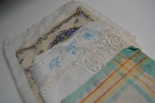 rummaged vintage hankerchiefs