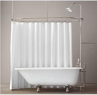 RH Tub with Curtain