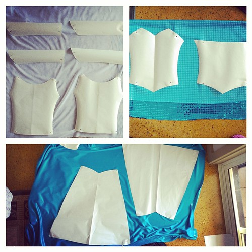 Completed patterns, ready to cut the fabrics