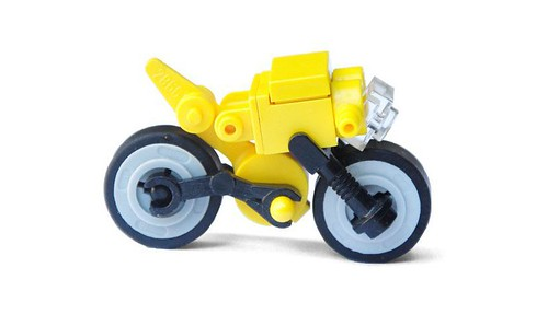 little yellow motorcycle